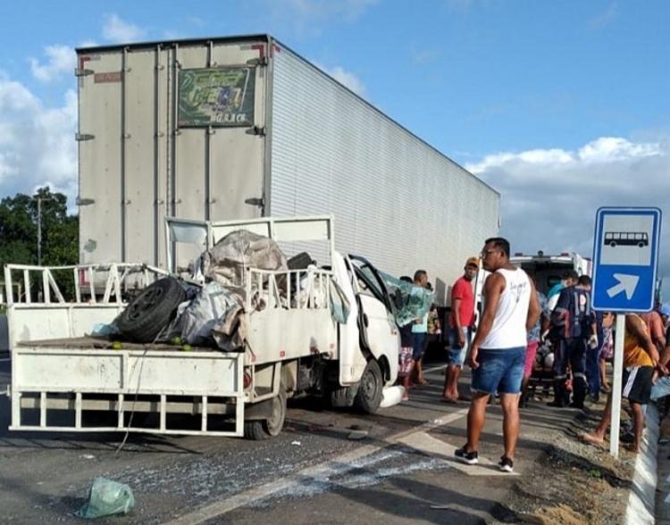 Acidente foi registrado na localidade do Cruzeiro, no município de Santa Bárbara | Foto: Reprodução | Redes Sociais - Foto: Reprodução | Redes Sociais