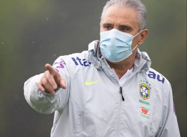 Treinador afirmou que elenco se pronunciará publicamente em momento oportuno | Foto: Lucas Figueiredo | CBF - Foto: Lucas Figueiredo | CBF