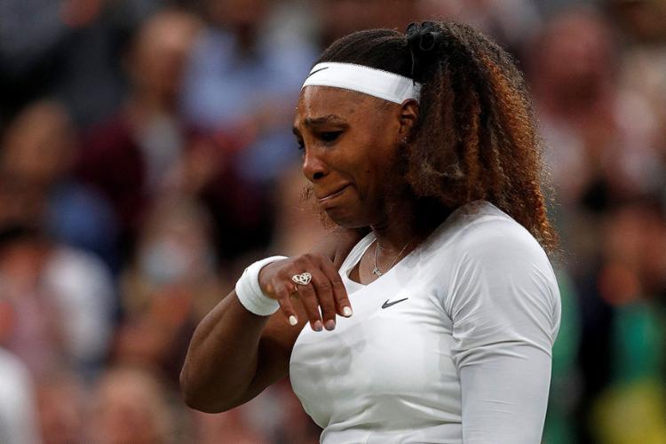 A tenista americana que fará 40 anos em setembro, jogou a toalha ainda no primeiro set | Foto: Adrian Dennis | AFP - Foto: Adrian Dennis | AFP