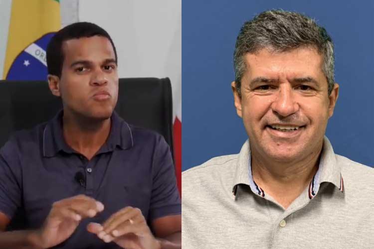Prefeito de Castro Alves, Thiancle Araújo, e o prefeito de Ibipitanga, Humberto de Oliveira | Reprodução - Foto: Reprodução
