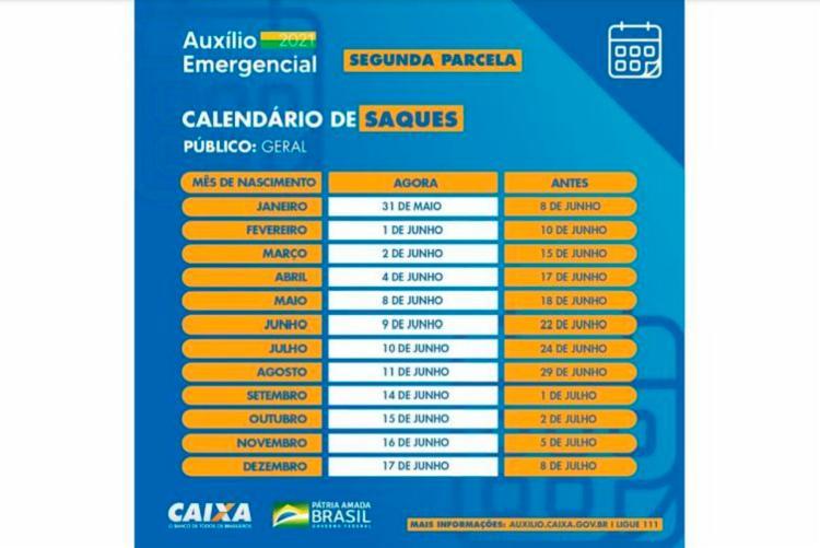 Confira o calendário | Foto: Divulgação | Governo federal