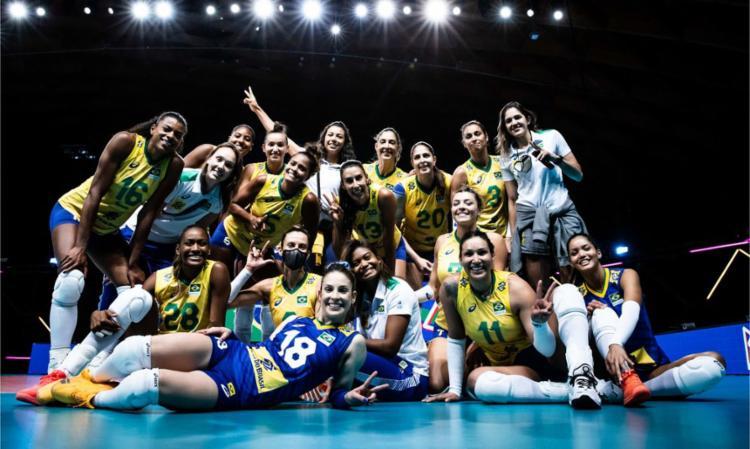 Vitória por 3 a 0 sobre Coreia do Sul manteve Brasil em segundo lugar | Foto: Divulgação | FIVB - Foto: Divulgação | FIVB