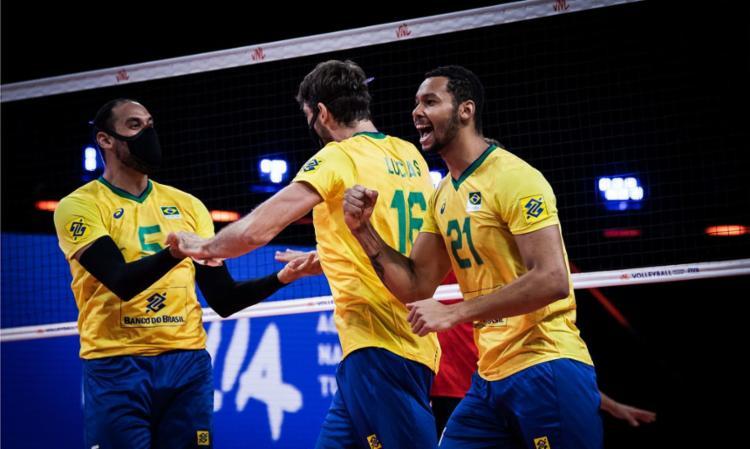 Garantido nas semifinais, Brasil roda elenco e faz 3 a 0 nos europeus | Foto: Divulgação | FIVB - Foto: Divulgação | FIVB