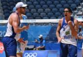 Vôlei de Praia: brasileiros Alison e Álvaro estreiam com vitória sobre Argentina | Foto: Angela Weiss | AFP
