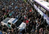 Seleção argentina chega em Buenos Aires sob forte esquema de proteção | Foto: Juan Mabromata | AFP