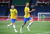 Brasil vence o Egito e avança às semifinais do futebol masculino | Foto: Charly Triballeau | AFP
