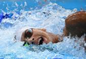 Brasileiro fica na última posição na final dos 800m livre na natação | Foto: Jonathan Nackstrand | AFP