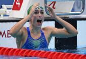 Natação: sul-africana é ouro nos 200m peito com recorde mundial | Foto: Oli Scarf | AFP