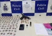 Suspeito é preso com drogas, arma e munições no bairro Jardim Nova Esperança | Foto: