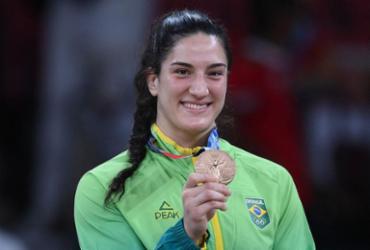 Mayra Aguiar faz história e conquista 3º bronze olímpico da carreira | Franck Fife | AFP