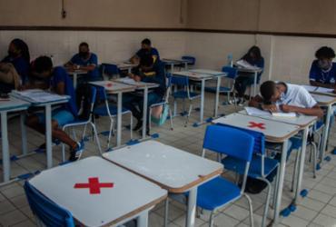 Rede estadual de ensino da Bahia retoma aulas semipresenciais com protocolos | Felipe iruatã/Ag a tarde