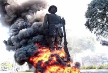 Suspeito de participação em incêndio da estátua de Borba Gato é preso em São Paulo | Reprodução / Twitter