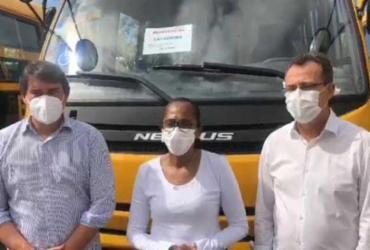 Município de Cachoeira recebe ônibus de transporte escolar