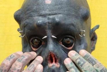 'Caveira' rivaliza com 'Diabão' ao tatuar 99% do corpo | Reprodução | Arquivo Pessoal