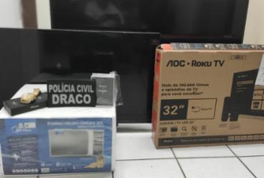 Funcionário é preso por desviar encomendas de eletroeletrônicos dos Correios | Divulgação | Polícia Civil