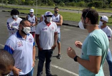 Organizada vai a CT do Bahia e faz cobranças | Reprodução | Redes Sociais