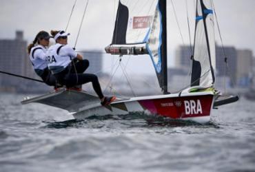 Martine e Kahena se classificam para regata decisiva na vela | Olivier Morin | AFP