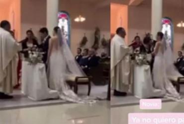 Noivo se atrapalha durante casamento e promete ser 'infiel'; confira vídeo   Reprodução   Tiktok