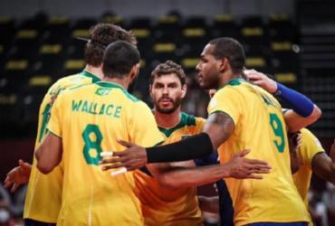 Brasil passa pela Tunísia na estreia do vôlei masculino | Gaspar Nóbrega/COB