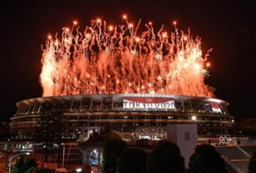 Veja imagens da cerimônia de abertura dos Jogos Olímpicos de Tóquio | AFP