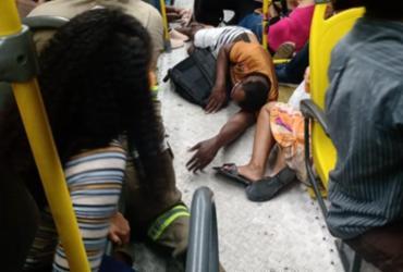Cinco pessoas são baleadas e uma morre em assalto a ônibus em Salvador | Reprodução | Redes Sociais