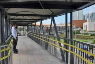 Passarela que interliga Estação Pernambués do metrô ao shopping é entregue nesta terça | Divulgação | GOVBA