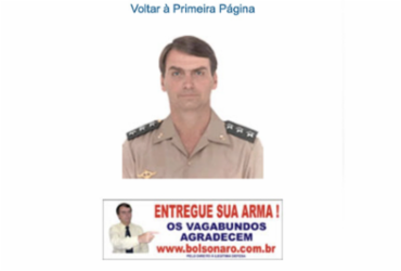 Pesquisadora encontra carta e banner de Bolsonaro em sites neonazistas | Reprodução