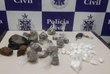 Após perseguição, dois suspeitos de tráfico são presos com maconha e cocaína em Coité
