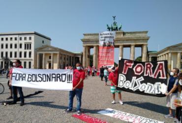 Protestos contra Bolsonaro são registrados em cidades da Europa e Ásia | Reprodução/Twitter