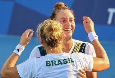 Luisa Stefani e Laura Pigossi são bronze nas duplas em Tóquio | Vincenzo Pinto | AFP