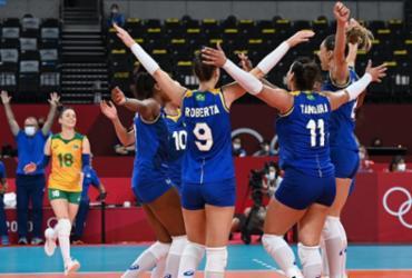 Vôlei feminino: Brasil vence Sérvia e assume liderança do Grupo A | Jung Yeon-Je | AFP