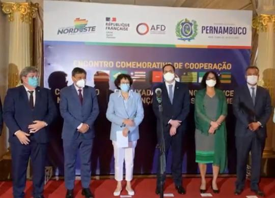 Em Pernambuco, Rui Costa participa de reunião do Consórcio do Nordeste com franceses | Divulgação