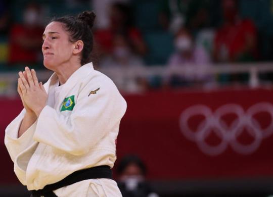 Judô: Mayra Aguiar conquista mais um bronze olímpico para o Brasil em Tóquio | Jack Guez | AFP
