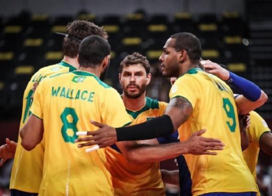 Brasil passa pela Tunísia na estreia do vôlei masculino   Gaspar Nóbrega/COB