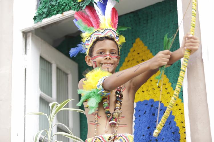 Cabe, em louvor ao 2 de Julho, agradecer a coragem da participação de tribos nativas na Guerra da Independência | Foto: Uendel Galter | AG. A TARDE | 2.7.2019 - Foto: Uendel Galter | AG. A TARDE | 2.7.2019