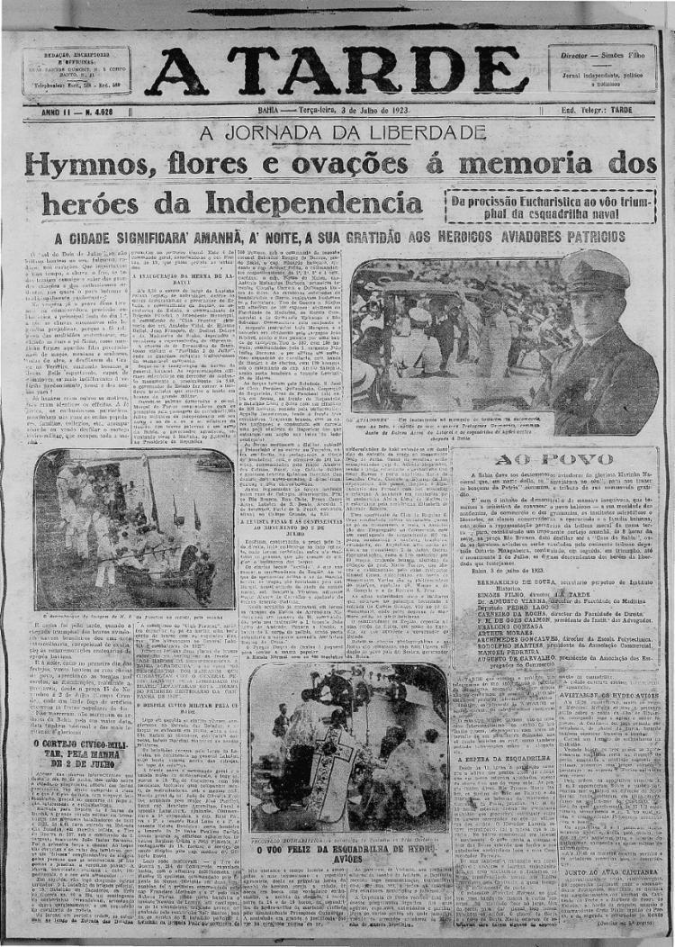 Edição comemorativa dos 100 anos da independência   Foto: Arquivo A TARDE