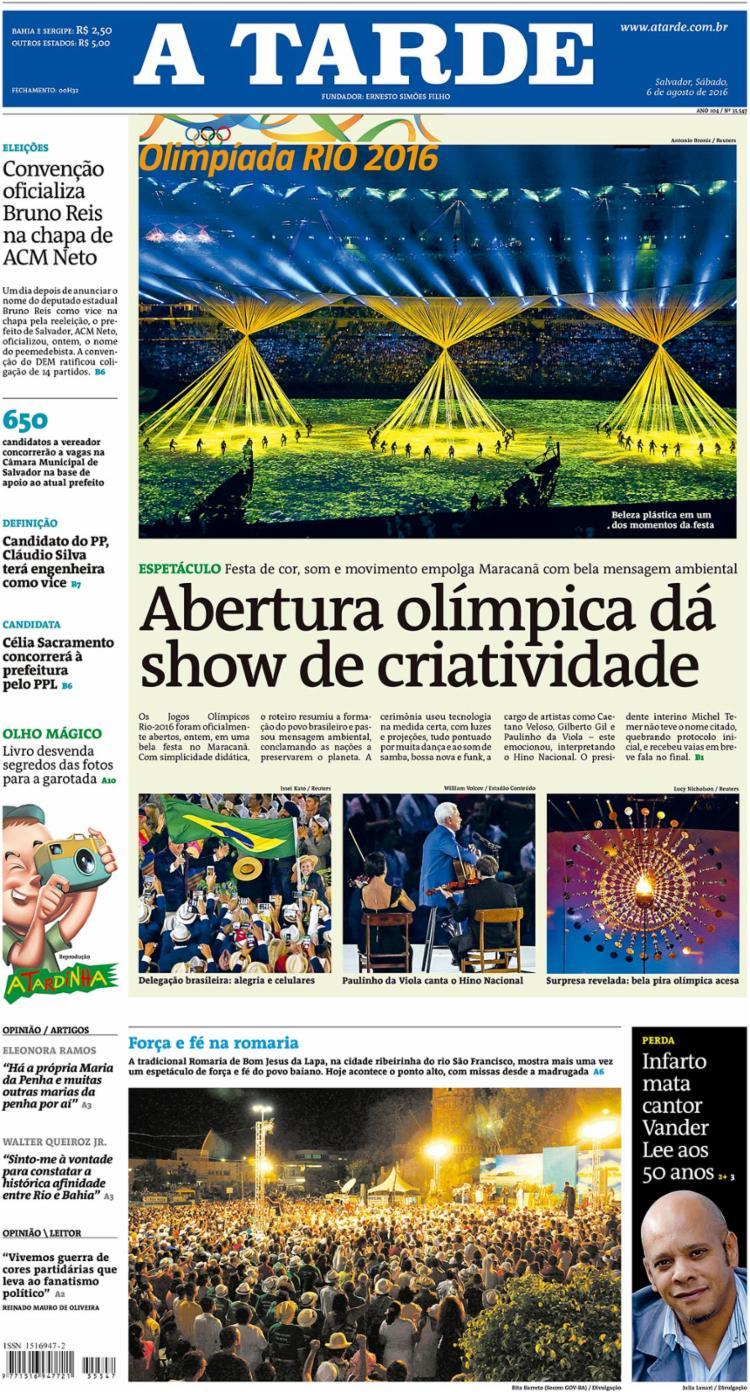 Espetáculo de abertura dos jogos do Rio encantou com luxo   Foto: Arquivo A TARDE   6.8.2016