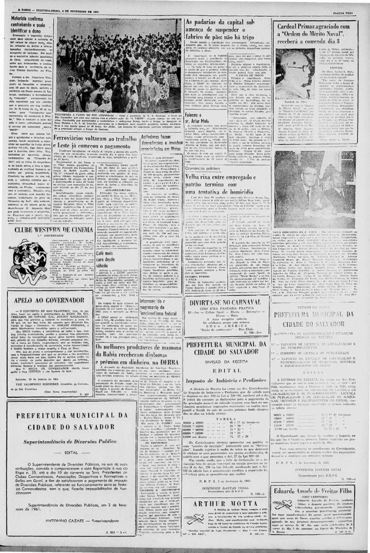 Registro raro da procissão, em 1961 || 6.2.1961
