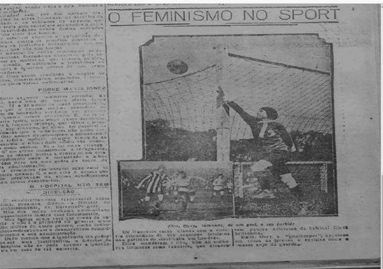 Capa de A TARDE em 1920 destacou partida de futebol feminino. Foto: Reprodução Cedoc A TARDE - Foto: Cedoc A TARDE