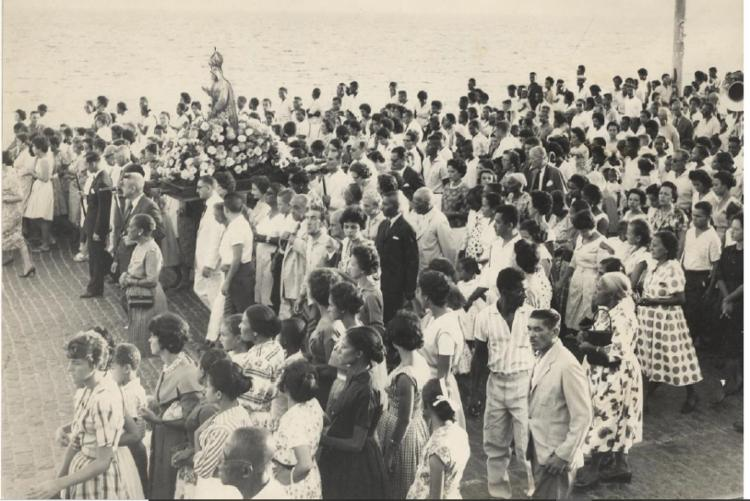 Registro foi realizado em 1961 e é o único com esse tema na coleção do Cedoc sobre as festas do Rio Vermelho. Data: 06/02/1961. Foto: Cedoc A TARDE - Foto: Cedoc A TARDE