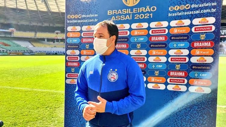 ressaltou que a defesa do jogo de hoje foi melhor que a do último jogo | Divulgação/ EC Bahia - Foto: Divulgação/ EC Bahia