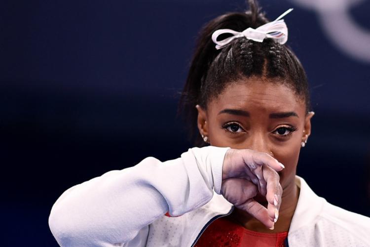 Biles, superestrela da ginástica, tem seis medalhas olímpicas e 25 em Mundiais | Foto: Loic Venance | AFP - Foto: Loic Venance | AFP