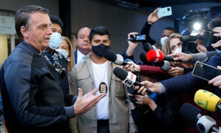 Bolsonaro voltou a defender tratamentos alternativos para a covid-19 | Foto: Miguel Schinchariol | AFP - Foto: Miguel Schinchariol | AFP