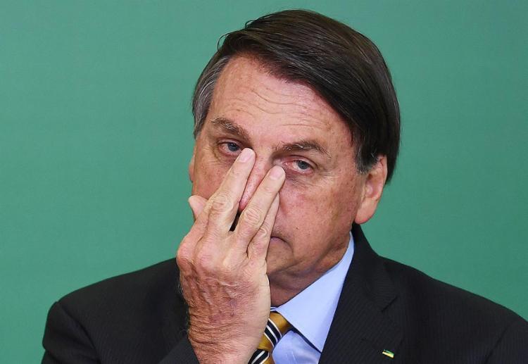 Bolsonaro, cada dia pior, também vítima de si mesmo   Foto: Evaristo Sá   AFP - Foto: Evaristo Sá   AFP