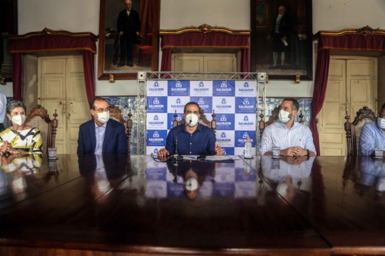 Prefeito afirmou que os eventos devem ocorrer assim que as taxas de contaminação do novo coronavírus estiverem baixas - Foto: Bruno Concha / Secom