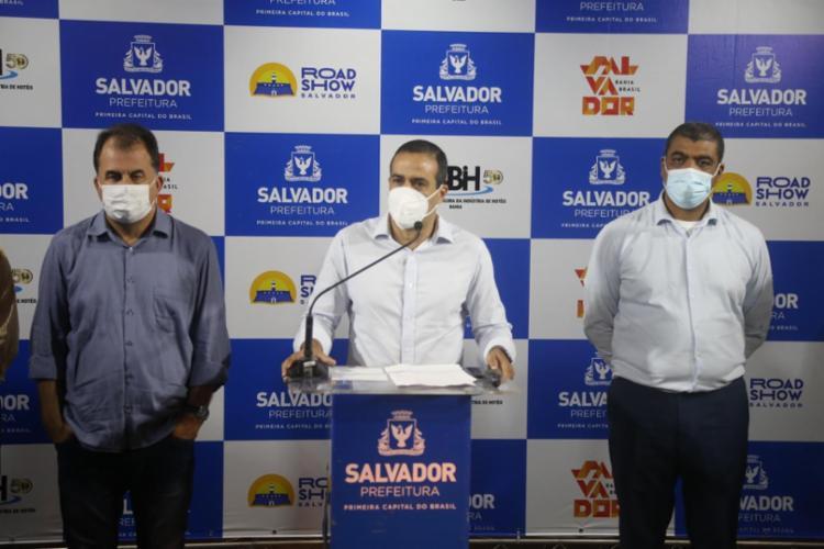 De acordo com o prefeito, 139 mil soteropolitanos não compareceram aos postos de saúde para se vacinarem contra a Covid-19 - Foto: Bruno Concha/Secom