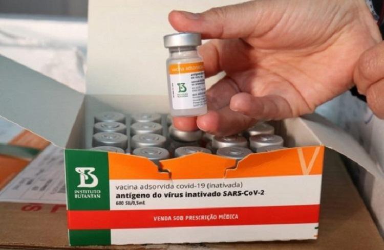Carga chegou vinda de Pequim, na China, enviada pela Sinovac, farmacêutica responsável pela patente da vacina contra a Covid-19 - Foto: Divulgação