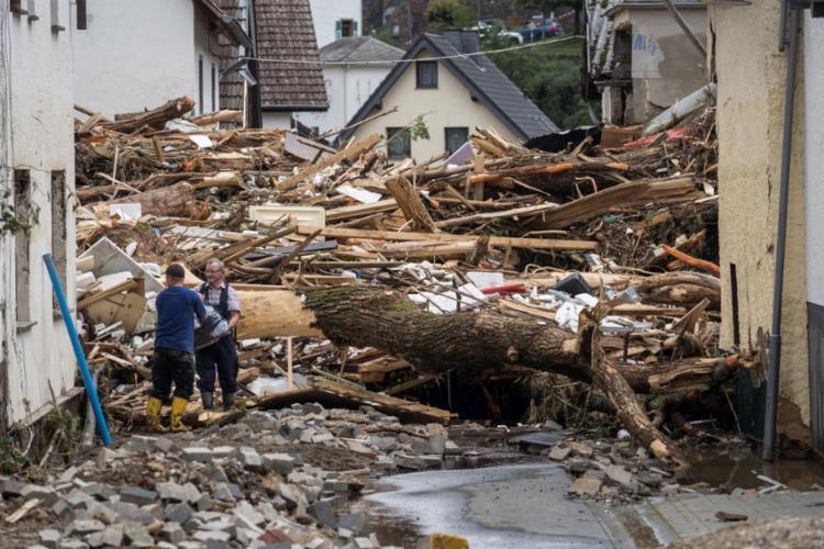 Chuvas provocaram destruição e morte na Alemanha | Foto: Bernd Lauter / AFP - Foto: Bernd Lauter / AFP