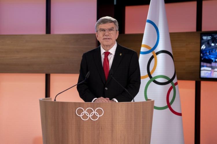 Thomas Bach, presidente do Comitê Olímpico Internacional, ressaltou o esforço conjunto para que as Olimpíadas de Tóquio saíssem do papel. - Foto: COI | Divulgação