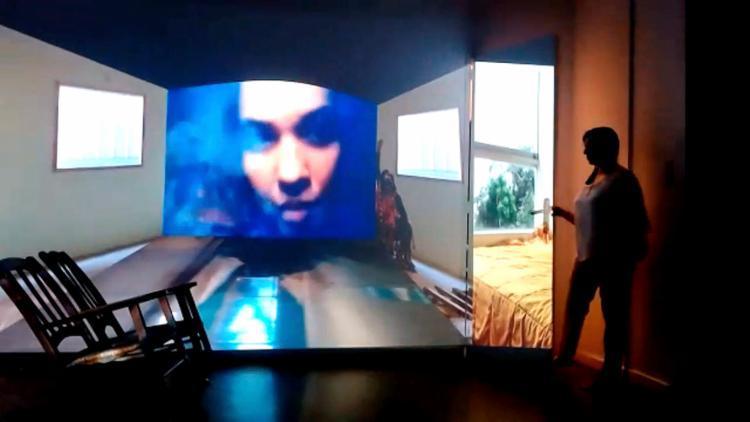 A montagem traz o talento dos artistas do Muta Multimedia, que dialogam com a cena dos intérpretes   Fotos: Divulgação - Foto: Divulgação
